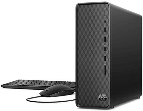 2021 Newest HP Slim Desktop Tower PC, AMD Athlon Silver 3050U, 16GB DDR4 RAM, 256GB PCIe SSD + 1TB HDD, HDMI, USB, WiFi, Bluetooth, Wired Keyboard & Mouse, Windows 10 Home