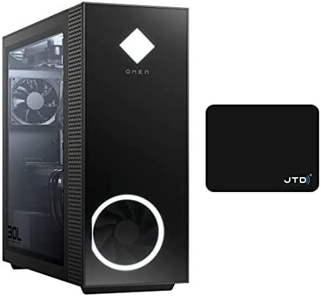 OMEN 30L Gaming Desktop Gamer Tower, GeForce RTX 3060 12GB Graphics, AMD 6-Core Ryzen 5 5600G Beats Intel i5-11400 (16GB DDR4 RAM| 1TB PCIe SSD| 2TB HDD) WiFi Bluetooth Windows 10 Pro W/JTD Mouse Pad