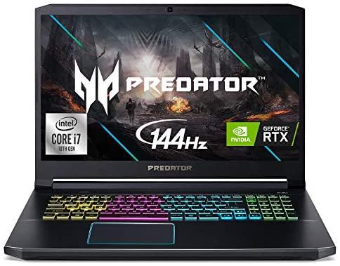 "Acer Predator Helios 300 Gaming Laptop, Intel i7-10750H, NVIDIA GeForce RTX 2070 Max-Q 8GB, 17.3"" FHD 144Hz 3ms IPS Display, 16GB Dual-Channel DDR4, 1TB NVMe SSD, WiFi 6, RGB Keyboard, PH317-54-70Z5"