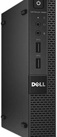 Fast Dell Optiplex 3020 Micro Desktop Computer Ultra Small Tiny PC (Intel Quad Core i5-4590T, 4GB Ram, 256GB SSD, WiFi, HDMI) Windows 10 Pro Comes with CD (Renewed)