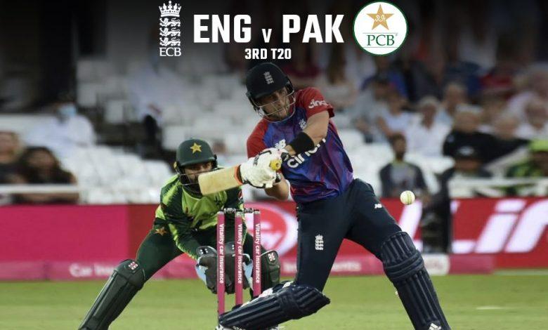 England vs Pakistan LIVE 3rd T20: England need 155 to win after Rizwan, Adil Rashid