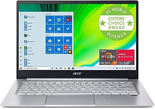 "Acer Swift 3 14"" FHD Premium Laptop | AMD Ryzen 7 4700U Octa-Core | 8GB DDR4 | 1TB SSD | Backlit Keyboard | Fingerprint Reader | Windows 10 | Silver | with USB3.0 HUB Bundle"