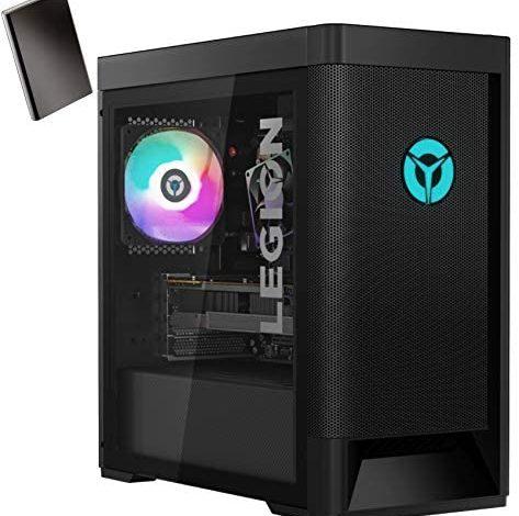 Lenovo Legion T5 GTX 1650 Super Gaming Desktop Computer, Hexa-Core AMD Ryzen 5 3600 Up to 4.2GHz (Beat i5-10400), 32GB DDR4 RAM, 2TB PCIe SSD, WiFi 6, BT 5.1, Windows 10, BROAGE 320GB External HD