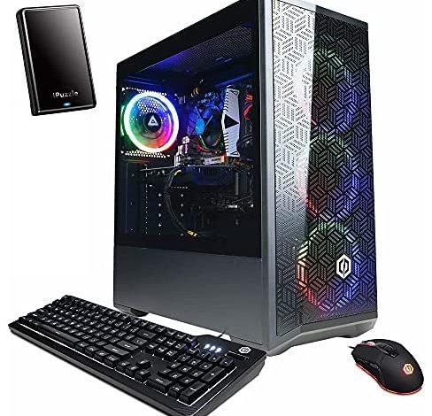 CyberpowerPC Gamer Xtreme VR GTX 1660 Super 6GB Gaming Desktop Computer, Intel Hexa-Core i5-10400F up to 4.3GHz, 64GB DDR4 RAM, 2TB PCIe SSD, AC WiFi, RGB Case, Windows 10, iPuzzle 500GB External HD