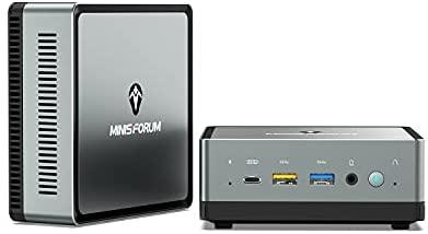 Mini PC AMD Ryzen 7 3750H | 16 GB RAM 256 GB PCIe SSD | Radeon RX Vega 10 Graphics | Windows 10 Pro | Intel Dual Band WiFi BT 5.1 | HDMI 2.0 / Display/USB-C | 2X RJ45 | 4X USB 3.1 Small Form Factor