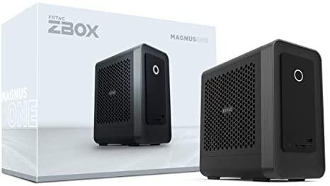 ZOTAC Magnus ONE ECM73070C Mini PC GeForce RTX 3070, Intel Core i7-10700, 16GB DDR4/512GB SSD/1TB HDD/Windows 10 Home 64-bit System, ZBOX-ECM73070C-U-W2B