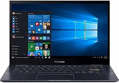 "2021 Thin and Light ASUS VivoBook Flip 14,14"" FHD Touchscreen, AMD 8-Core Ryzen 7 5700U, 16GB RAM, 1TB PCIe SSD, Backlit, Fingerprint, Win10 Home, Bundled with Woov 32GB Micro SD Card"