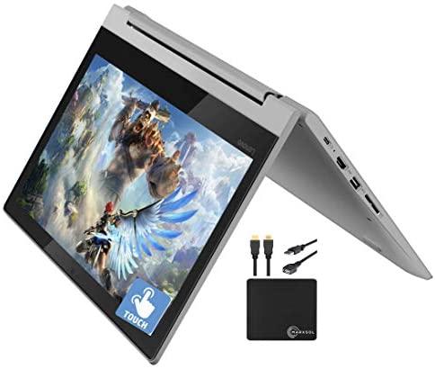 "2021_Lenovo Premium Chromebook Flex 3 11.6"" 2-in-1 Touchscreen HD Laptop Business & Student, MediaTek MT8173C Quad-Core Processor, 4GB RAM, 32GB eMMC, HD Webcam, Chrome OS, WiFi, w/Marxsol Cables"