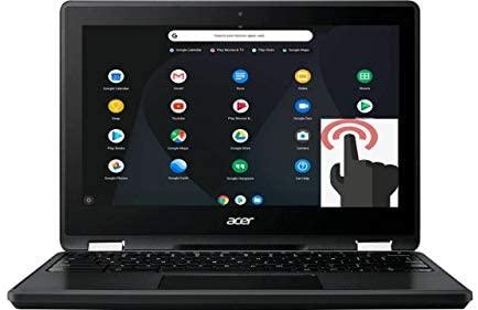 "Acer Spin 11 2-in-1 Convertible 11.6"" HD Touchscreen WLED-Backlit Chromebook, Intel Celeron N3350 Processor, 4GB Memory, 32GB eMMC, Bluetooth, WiFi, Webcam, Google Chrome OS, Obsidian Black"