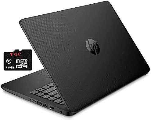 2021 HP Stream 14inch HD Display, Intel Celeron N4020 Dual-Core Processor, 4GB DDR4 Memory, 128 GB Storage (64GB eMMC+64GB TGC Card), WiFi, Webcam, Bluetooth,1-Year Microsoft 365 Win10 S Jet Black