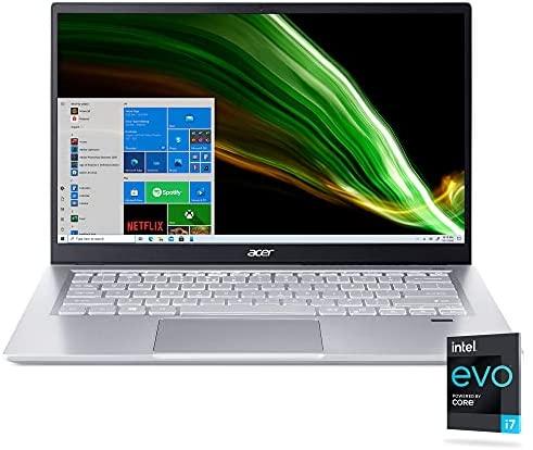 """Acer Swift 3 Intel Evo Thin & Light Laptop   14.0"""" Full HD IPS   Intel Core i7-1165G7   Intel Iris Xe Graphics   16GB LPDDR4X   512GB SSD   Wi-Fi 6   Fingerprint Reader   Back-lit KB   SF314-511-70TU"""