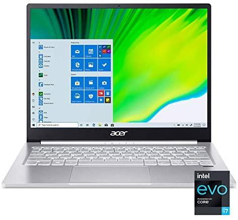 """Acer Swift 3 Intel Evo Thin & Light Laptop, 13.5"""" 2256 x 1504 IPS, Intel Core i7-1165G7, Intel Iris Xe Graphics, 16GB LPDDR4X, 1TB NVMe SSD, Wi-Fi 6, Fingerprint Reader, Back-lit KB, SF313-53-79HQ"""