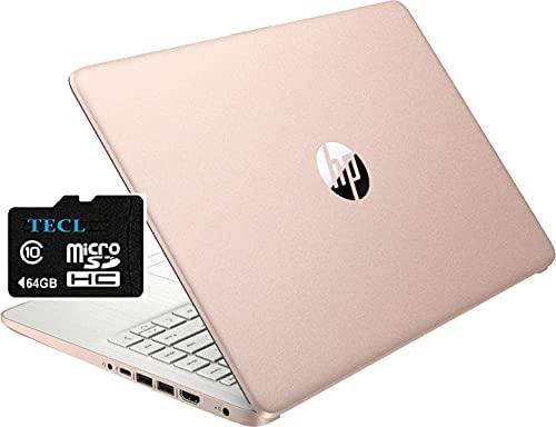 2021 HP Stream 14inch HD Display, Intel Celeron N4020 Dual-Core Processor, 4GB DDR4 Memory,128GB Storage(64GB eMMC+64GB TECL Card) WiFi, Webcam, Bluetooth, HDMI,1-Year Microsoft 365 Win10 S Rose Gold