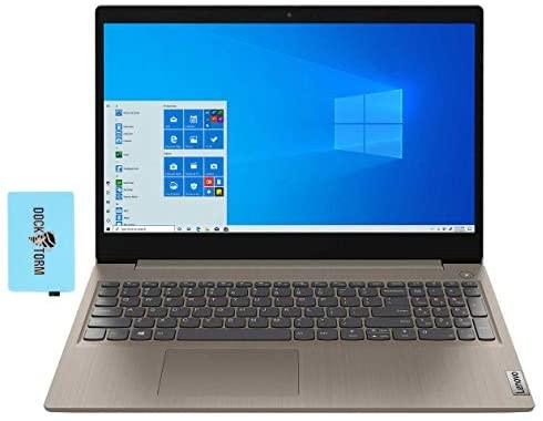 "Lenovo IdeaPad 3 Home and Business Laptop Almond (Intel i5-10210U 4-Core, 4GB RAM, 1TB HDD, Intel UHD, 15.6"" Touch HD (1366x768), WiFi, Bluetooth, Webcam, 1xHDMI, SD Card, Win 10 Pro) with Hub"