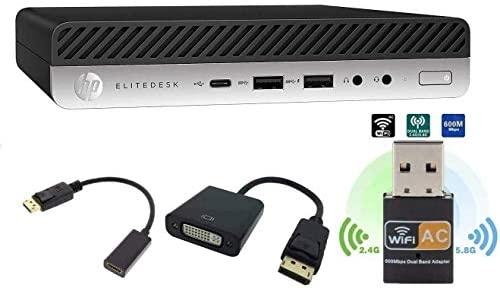 HP Elitedesk 800 G3 Mini Business Desktop (Intel Quad Core i5-6500T, 8GB DDR4 RAM, 256GB SSD) Type-C, DisplayPort DP, HDMI, DisplayPort, WiFi, Ethernet, Windows 10 Pro 64-bit (Renewed)