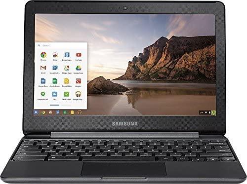 "SAMSUNG 11.6"" Chromebook with Intel N3060 up to 2.48GHz, 4GB Memory, 16GB eMMC Flash Memory, Bluetooth 4.0, USB 3.0, HDMI, Webcam, Chrome Operating System, Black"