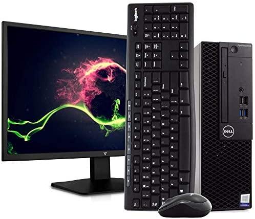 "Dell OptiPlex 3050 PC Desktop Computer, Intel i5-6500 3.2GHz, 8GB RAM, 1TB HDD, Windows 10 Pro, 23.6"" FHD LED Monitor, New 16GB Flash Drive, Wireless Keyboard & Mouse, DVD, WiFi (Renewed)"