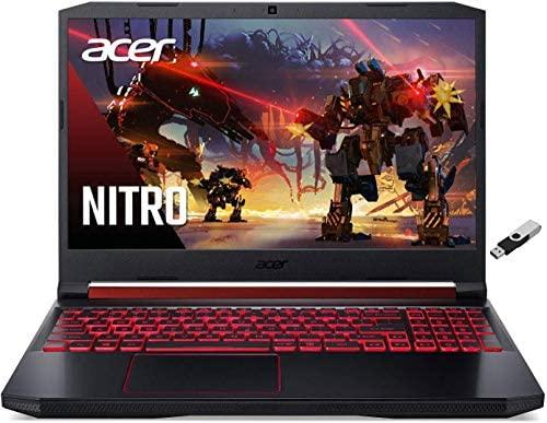 "Newest Acer AN515 Nitro 5 Gaming Laptop 15.6"" FHD IPS Display 10th Gen Intel Core i5-10300H NVIDIA GTX 1650 4GB GDDR5 8GB DDR4 256GB NVMe SSD Backlit Keyboard w/ Ontrend 32GB USB Drive"