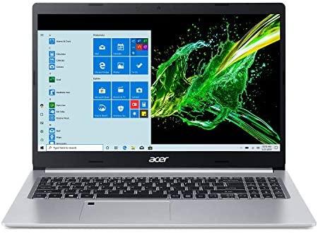 "Acer Aspire 5 A515-55-35SE, 15.6"" Full HD Display, 10th Gen Intel Core i3-1005G1 Processor, 4GB DDR4, 128GB NVMe SSD, Intel WiFi 6 AX201, Backlit KB, Fingerprint Reader, Windows 10 Home (S Mode)"