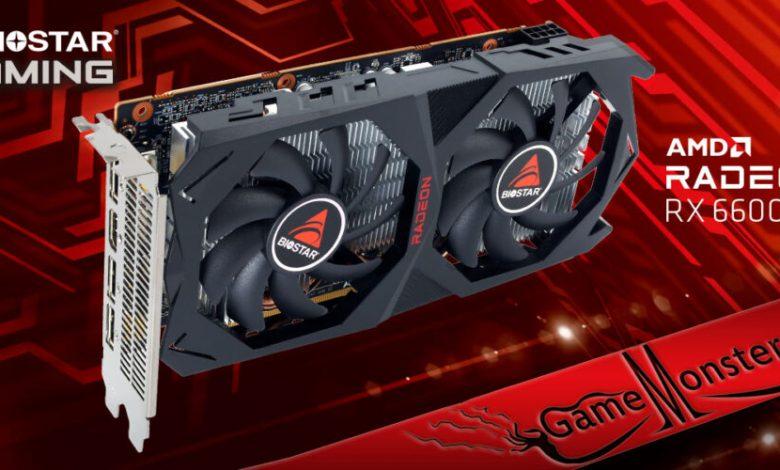 BIOSTAR Reveals all new AMD Radeon RX 6600 XT