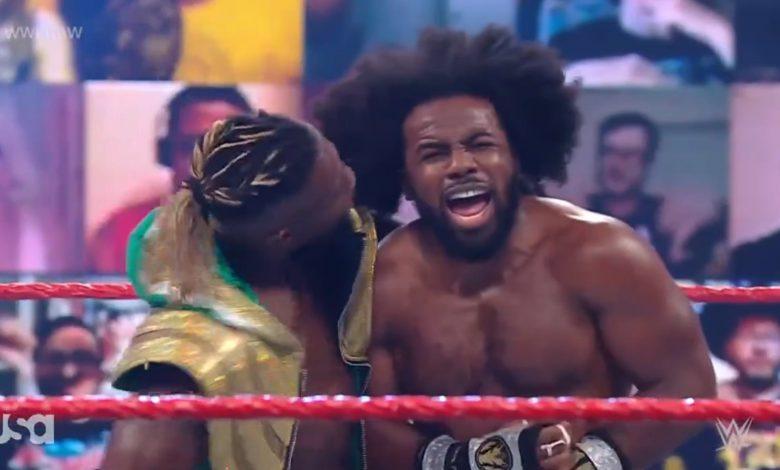 Xavier Woods stunned Bobby Lashley