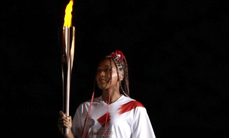 Naomi Osaka Lights Olympic Cauldron During Tokyo Opening Ceremony