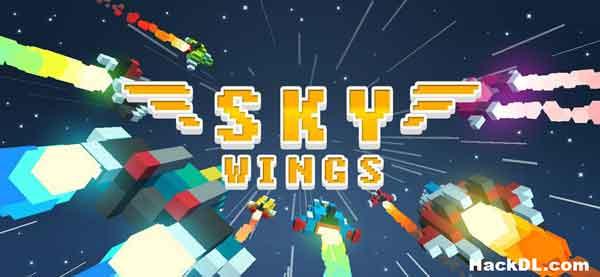 Sky Wings: Pixel-Kampfschiff 3D