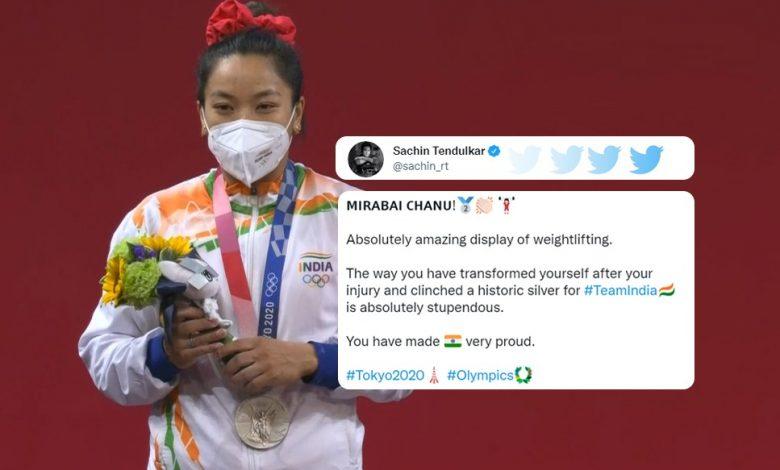 PM Modi, hail Mirabai Chanu for winning silver