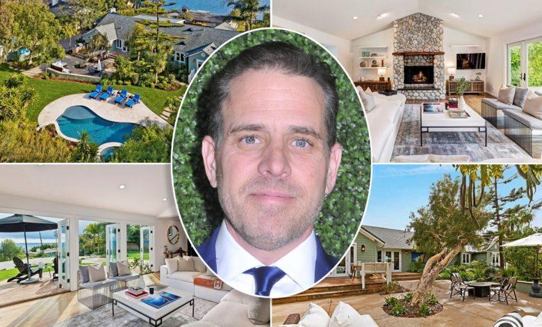 Inside Hunter Biden's $20K Malibu rental with art studio
