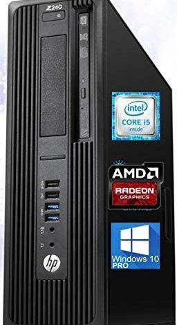 HP Z240 Workstation SFF Desktop PC, Intel Core i5-6500 Upto 3.60GHz, 16GB RAM, 1TB SSD, AMD Radeon HD 8570 1GB 4K, DisplayPort, HDMI, DVI, AC Wi-Fi, Bluetooth - Windows 10 Pro (RENEWED)