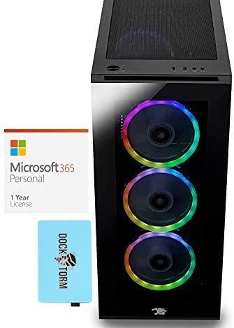 iBUYPOWER Trace 5 MR - 178i Gaming & Entertainment Desktop PC (Intel i7-11700F 8-Core, 128GB RAM, 8TB PCIe SSD, RTX 2060, WiFi, Bluetooth, Win 10 Pro) with MS 365 Personal, Hub