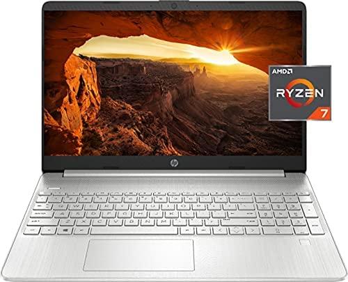 """2021 Newest HP Pavilion Laptop, 15.6"""" HD Display, AMD Ryzen 7 3700U Processor (Better Than i7-10510U), 16 GB DDR4 RAM, 1 TB PCIe SSD, WiFi 6, HDMI, Type-C, Windows 10 Home + Oydisen Cloth"""