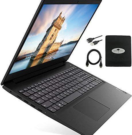 "Lenovo IdeaPad 3 15.6"" HD Business Laptop 2021 Newest, AMD Ryzen 3 3250U(Beat i7-7600u), 20GB RAM DDR4, 512GB NVMe SSD, HDMI WiFi, Windows 10 S w/Ghost Manta Accessories"