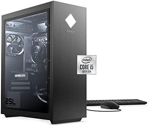 2021 Newest HP Omen Gaming Desktop, Intel Core i5-10400 6-Core Processor, NVIDIA GeForce GTX 1660 Super, 16GB RAM, 512GB SSD + 1TB HDD, HDMI, DisplayPort, DVI, Wi-Fi, Windows 10 Home, KKE Mousepad
