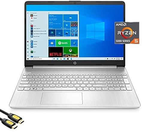 HP 15.6'' FHD Micro-Edge Laptop, AMD Hexa-Core Ryzen 5 5500U (Beat i5-10500) up to 4.0GHz, 32GB RAM, 1TB PCIe SSD, USB-C, HDMI, Wi-Fi, BT, Keypad, Webcam, SD Card Reader, Mytrix_HDMI Cable, Win 10