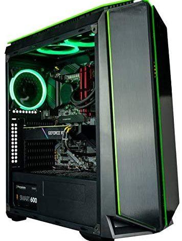 CUK Mantis Gamer PC (Liquid Cooled Intel Core i7 K-Series, 32GB RAM, 512GB NVMe SSD + 2TB HDD, NVIDIA GeForce RTX 3060 12GB, 700W PSU, AC WiFi, Windows 10 Home) Gaming Tower Desktop Computer