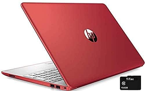 "2021 Newest HP Pavilion 15 15.6"" HD Laptop Computer, Intel Pentium Processor, 16GB DDR4, 1TB SSD, Webcam, USB-C, HDMI, WiFi, Windows 10 S, Scarlet Red, TiTac Accessory"