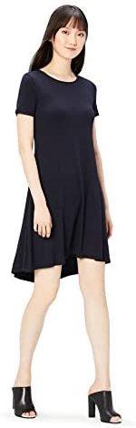 Daily Ritual Women's Jersey Short-Sleeve Open Crewneck Dress