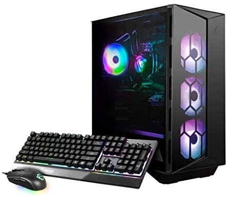MSI Aegis RS (Tower) Gaming Desktop, Intel Core i7-11700K, GeForce RTX 3080, 16GB Memory, 1TB SSD + 2TB HDD, WiFi 6, Liquid Cooling, USB Type-C, VR-Ready, Windows 10 Home Adv. (11TE-089US)