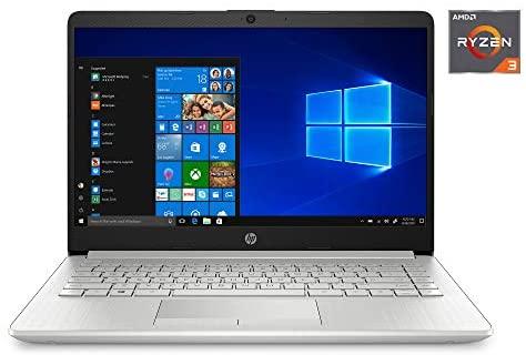 "2020 HP 14"" HD Laptop PC, AMD Ryzen 3 3250U Dual-Core Processor, 4GB DDR4 RAM, HDMI, AMD Radeon Vega 3 Graphics, Windows 10, Silver, W/ MD Accessories (128 GB)"