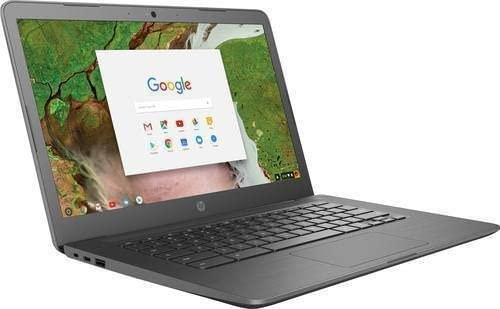 """2019 HP 14"""" HD Touchscreen Chromebook Laptop PC, Intel Celeron N3350 Processor, 4GB DDR4 RAM, 32GB eMMC, 802.11ac, Bluetooth, USB-C 3.1, No DVD, Chrome OS ( Grey)"""