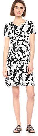 Amazon Essentials Women's Short Sleeve Scoopneck A-line Shirt Dress