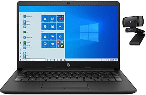 "HP 14"" HD Laptop for Business and Student, AMD Athlon Silver 3050U (Beat i-7200U), 16GB RAM, 256GB PCIe SSD+1TB HDD, HDMI, Wi-Fi, Bluetooth, Ethernet, Mytrix 1080p FHD Webcam, Win 10"