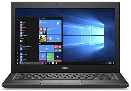 """Dell Latitude 7280 Intel Core i5-6300U X2 2.4GHz 8GB 256GB SSD 12.5"""" Win10, Black (Certified Refurbished)"""