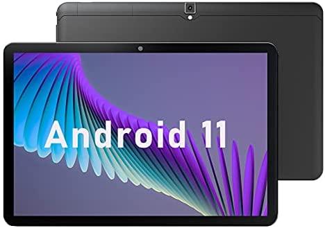 10 inch Tablets, Android 11, 1.8GHz Processor, 3GB RAM, 32GB Storage, 1280x800 HD IPS Display, 5000 mAh Battery, Dual Camera, YUMKEM 10.1 inch Wi-Fi Tablet, OTG/USB Tpye-C, Black