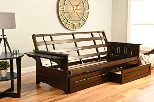 Kodiak Furniture Phoenix Futon in Espresso Finish with Storage Drawer