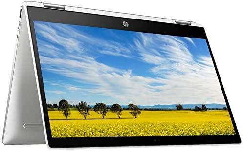 2021 HP Chromebook 14 Inch Touchscreen 2-in-1 Laptop, Intel Celeron N4000 up to 2.6 GHz, 4GB LPDDR4 RAM, 32GB eMMC, Bluetooth, Webcam, Chrome OS + NexiGo 128GB MicroSD Card Bundle
