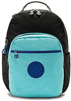 """Kipling Women's Seoul 15"""" Laptop Backpack, Poseidon Black Block, 13.75""""L x 17.25""""H x 8""""D"""