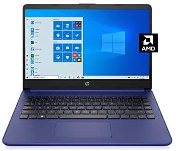 HP 14 Laptop, AMD 3020e, 4 GB RAM, 64 GB eMMC Storage, 14-inch HD Display, Windows 10 Home in S Mode, Long Battery Life, Microsoft 365, (14-fq0010nr, 2020)