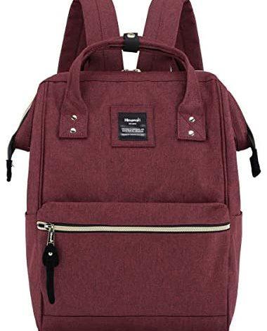 Himawari Laptop Backpack Travel Backpack With USB Charging Port Large Diaper Bag Doctor Bag School Backpack for Women&Men(9001-Burgundy)